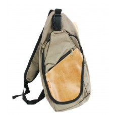 Single shoulder canvas backpack