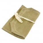Military green canvas pouch.