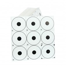 Airgun paper targets with 9 bullseye