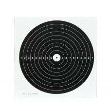Airgun paper targets with 1 black bullseye 14x14 cm