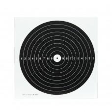 Bersagli centro nero su cartoncino bianco 14x14 cm