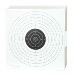 Airgun paper targets with 1 black bullseye  17x17 cm