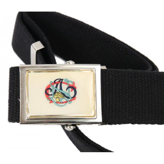 imbattuto x sito ufficiale prezzo più economico Cintura in tela blu con fibbia A.N.C.