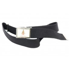 Blue canvas belt with Vigili del Fuoco buckle