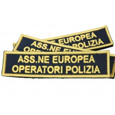 Embroidered patch for European Association of Police Operators 12 x 3 cm