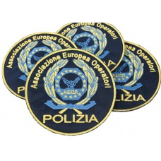Embroidered round patch for European Association of Police Operators 100 mm
