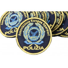 Embroidered round patch for European Association of Police Operators 56 mm